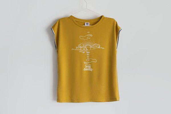 Swing Paradise T-Shirt Woman Yellow-min